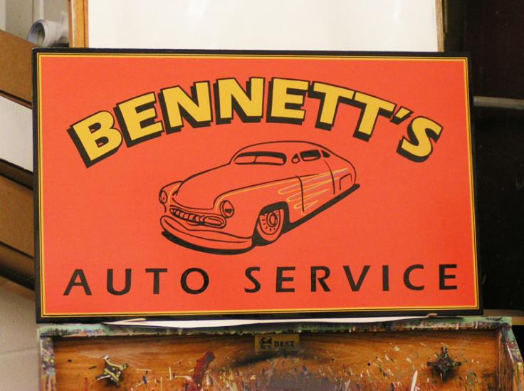 Hand Painted Auto Service Sign
