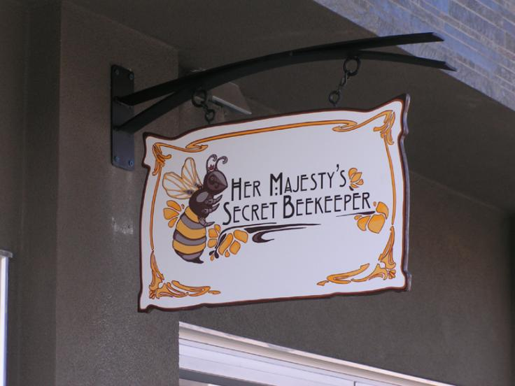 Hand Painted Hanging Shop Sign