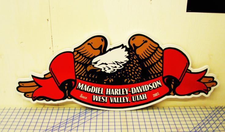Hand Painted Harley Davidson Sign