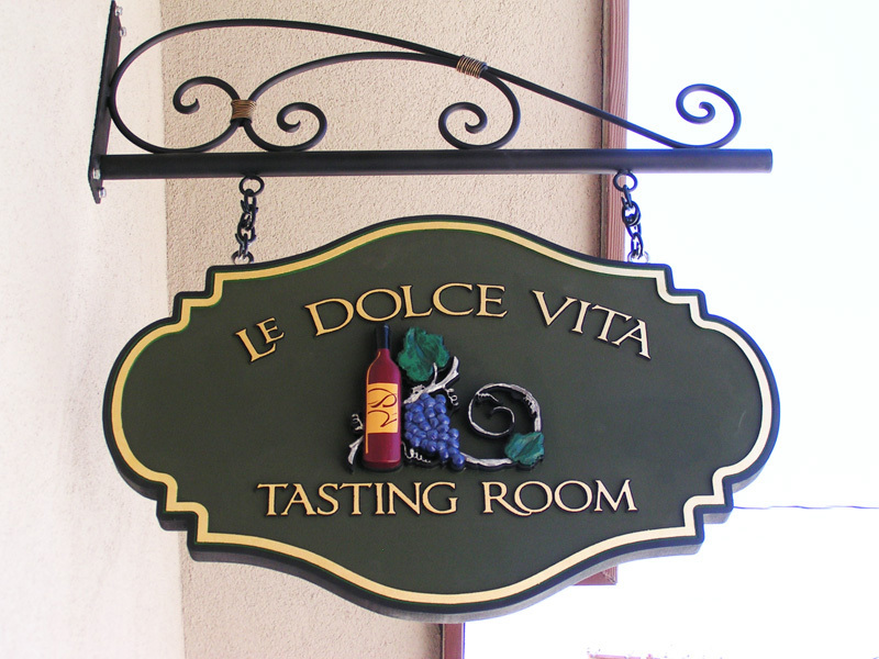 Hand Painted Dimensional Sign for Wine Tasting Room
