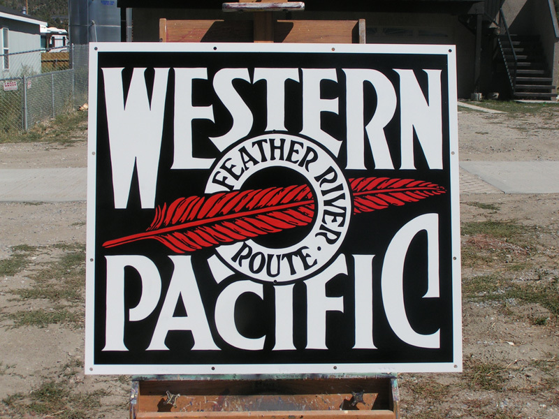 Hand Painted Train Signs for Western Pacific Museum