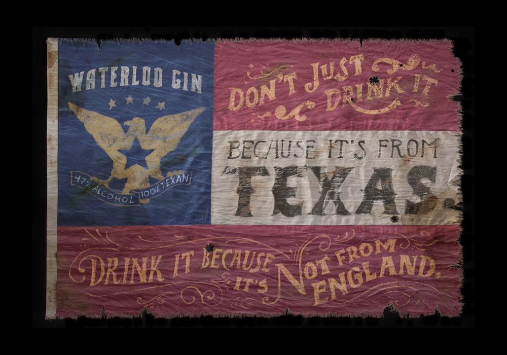 Awesome. joncontino: New project! Waterloo Gin flags. Serious.