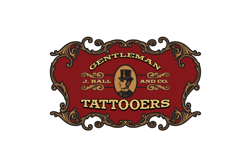 Logo Design for J. Hall & Co. Gentleman Tattooers in Dallas, Texas