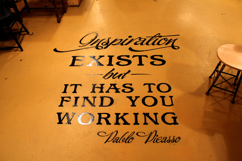Visitors to our studio will now be greeted by Pablo Picasso…
