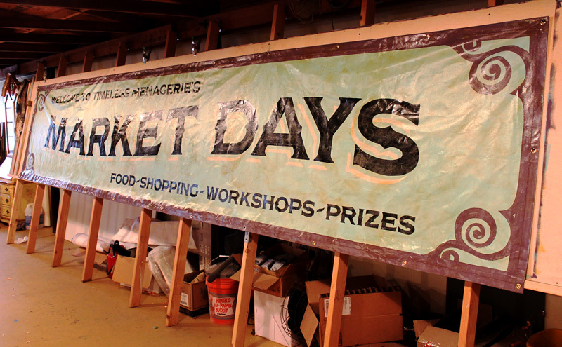 Hand Painted Banner, all hand made on cotton duck canvas, 20 feet long…