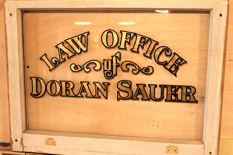 Going to its new home today to local Denton attorney Doran Sauer's office….