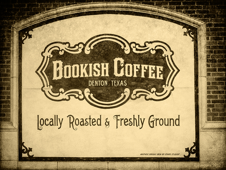 Amazing photo of our Bookish Coffee sign by Photographer Richard Hargrove