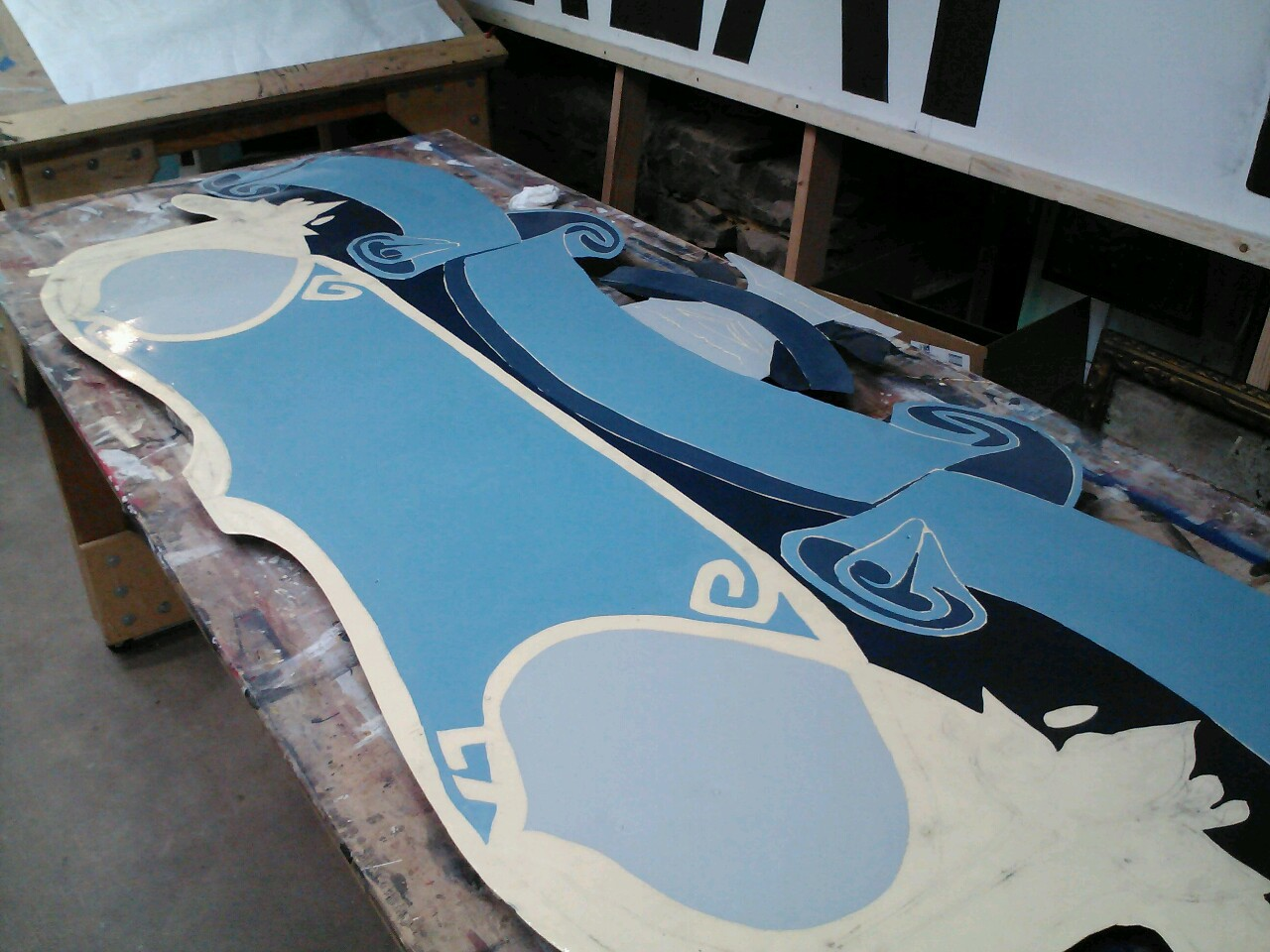 Sign painting marathon on this restoration today…