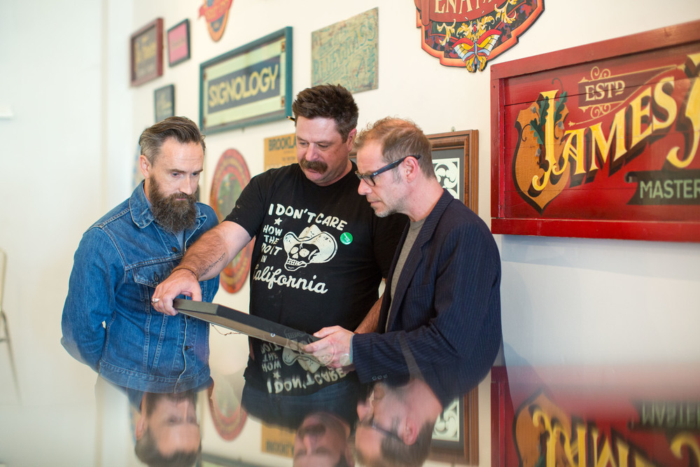 Sean Starr with Noel Hogan and Fergal Lawler of The Cranberries in Limerick, Ireland.