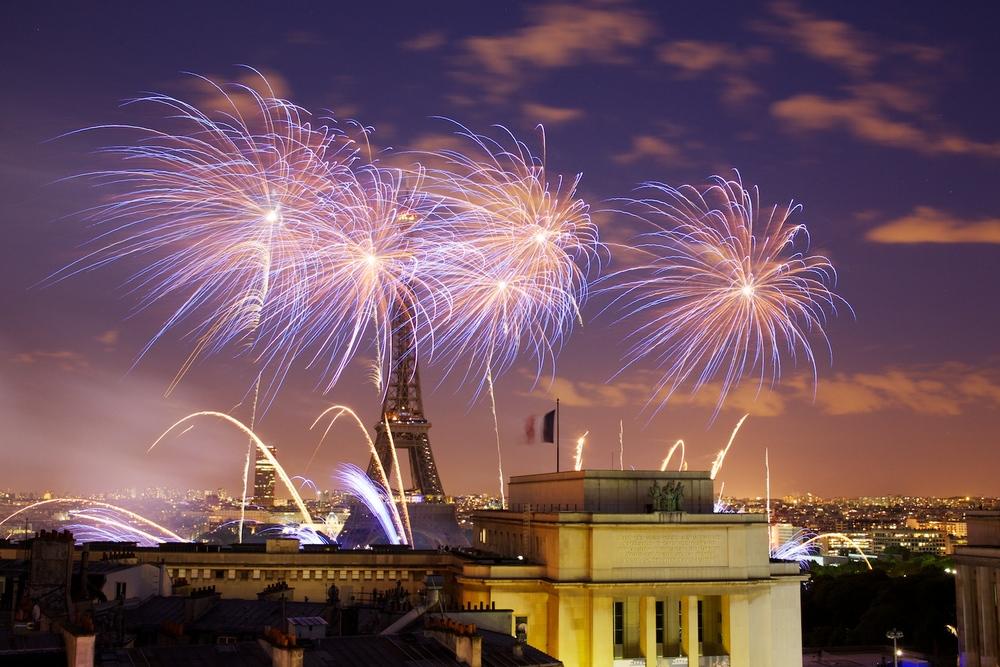 Feu d'artifice du 14 Juillet 2010, vu depuis le Trocadero