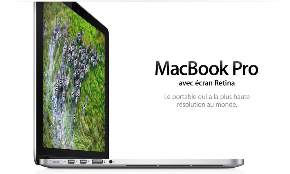 Les MacBook Pro (Retina ou non) toujours sous Ivy Bridge
