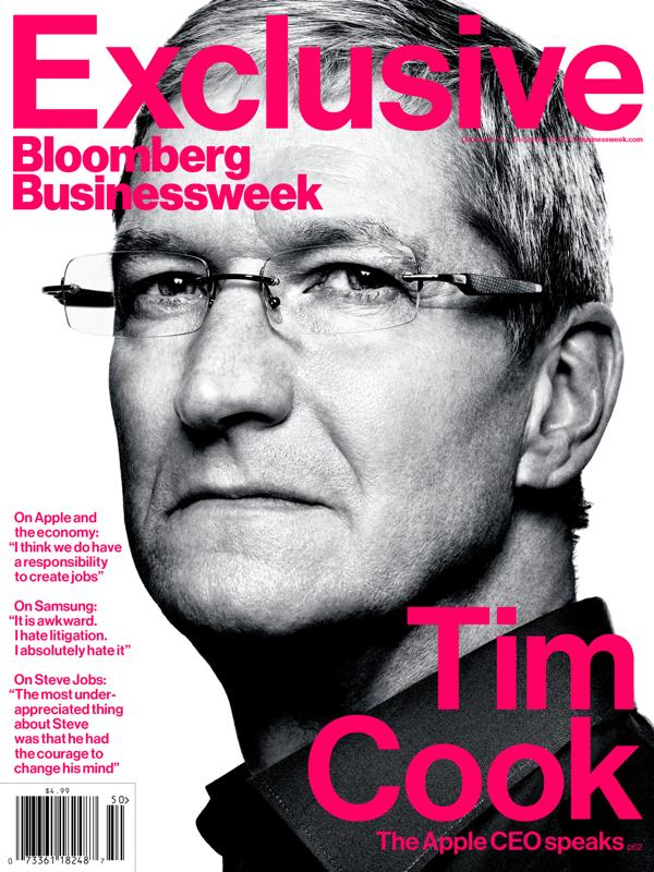 Tim Cook's Freshman Year: The Apple CEO Speaks- Credit image: BloombergBusinessweek