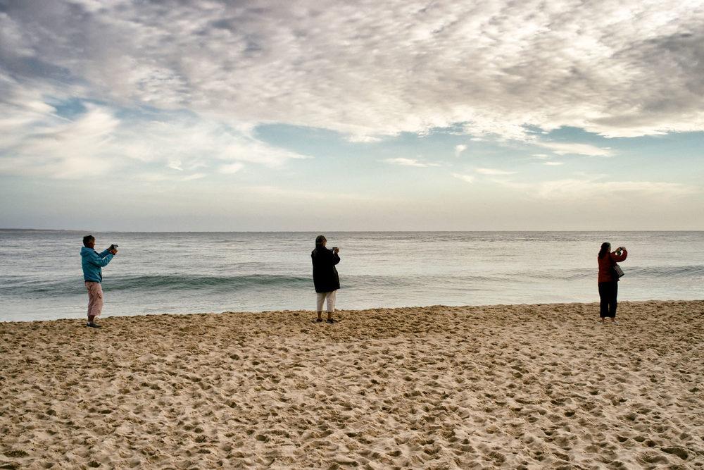 Gestuelle numérique. Pointe du Cap-Ferret le 20 septembre 2013 © Thierry Lothon 2013