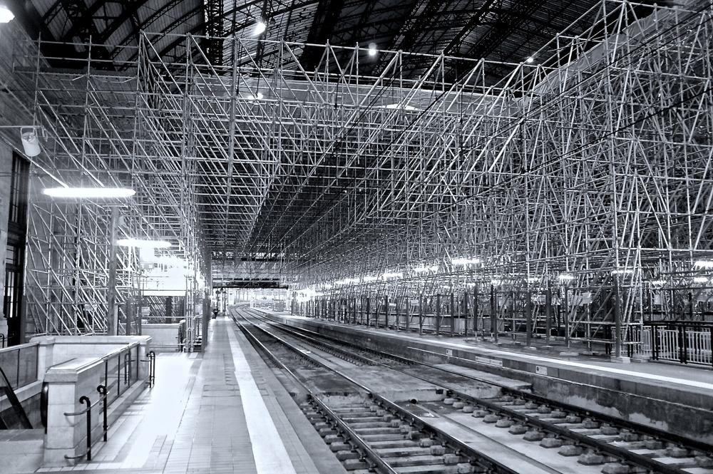 Gare Bordeaux St Jen - Réfection de la marquise - Sony Nex-6 Objectif SEL20F28 Sony By Éric Courcy