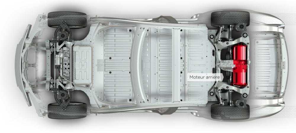La version 85 :une propulsion avec deux moteurs à l'arrière,puissances cumulée :385 chevaux