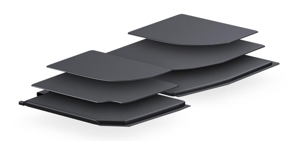 En raison de la finesse et de la forme de ce MacBook, Apple a dûcréer une batterie avec une forme atypique !