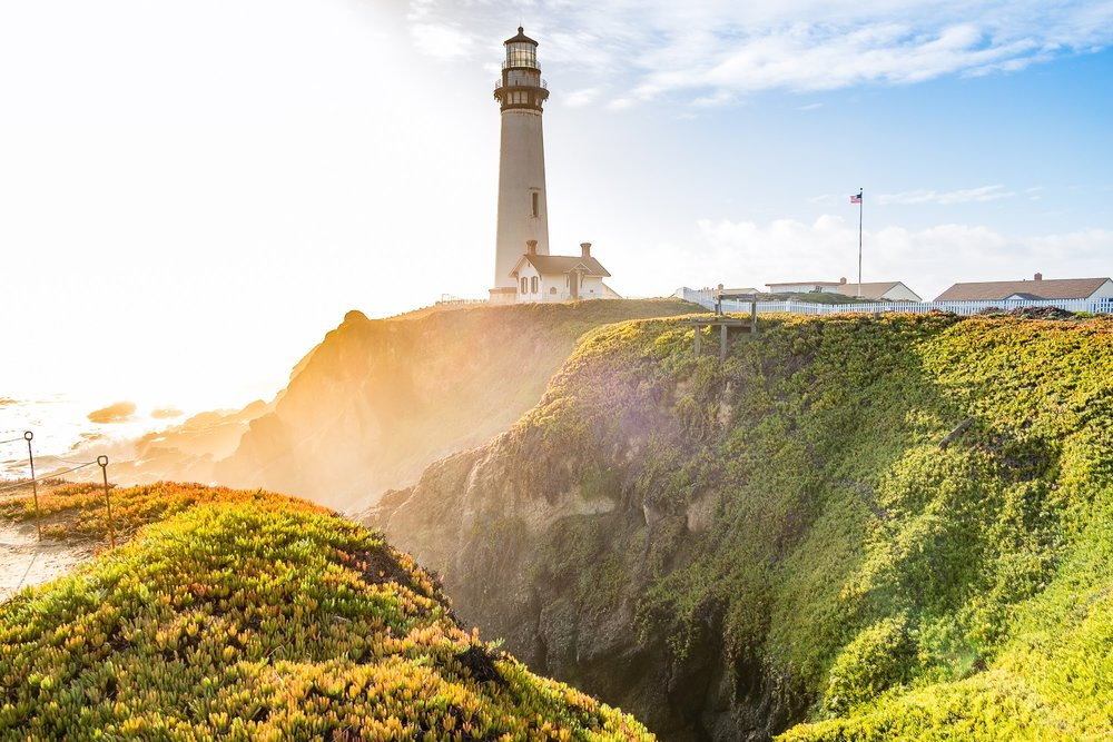 Pigeon Point lighthouse, sur la Highway 1 entre San Francisco et Santa Cruz