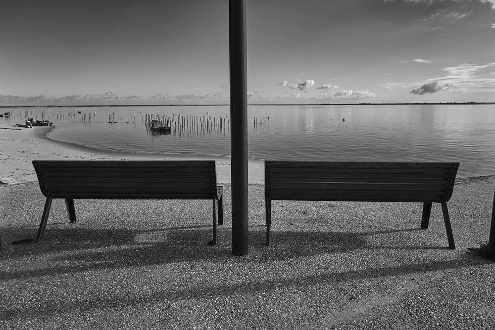 Symétrie à Grand-Piquey // Presqu'ile du Cap-Ferret // Décembre 2017 // Leica Q