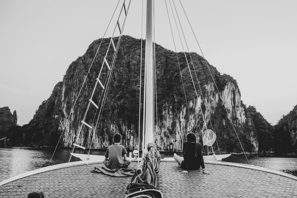Le calme avant la tempête - baie d'Along Vietnam - avril 2018 - Fuji X100F - lightroom sur iPad