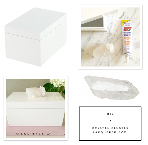 Fabulous K  •  DIY Crystal Cluster Lacquered Box