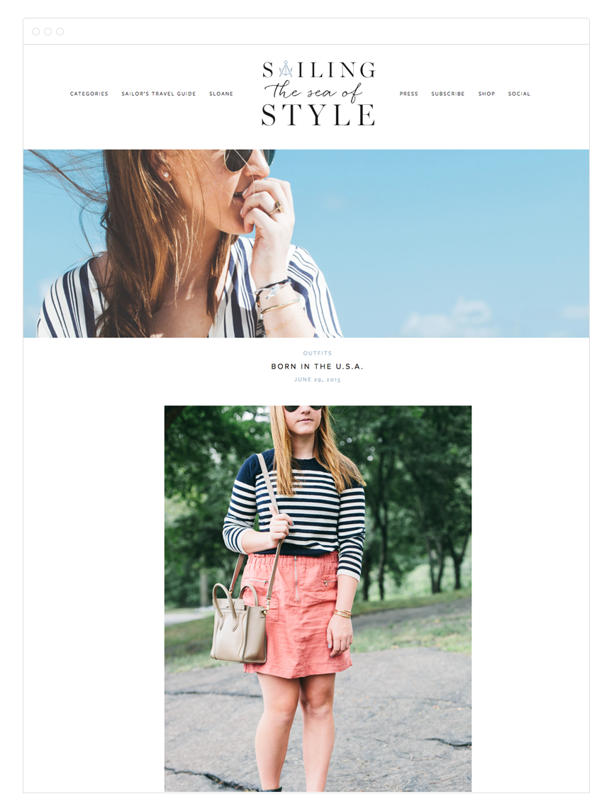 Sailing the Sea of Style Blog Design by Kelly Christine Studio