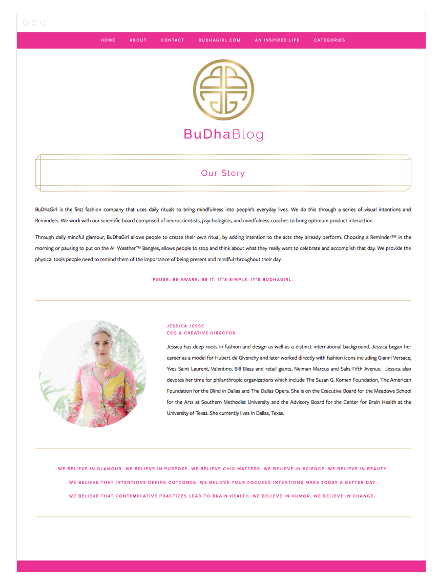Buddha Blog Design by Kelly Christine Studio