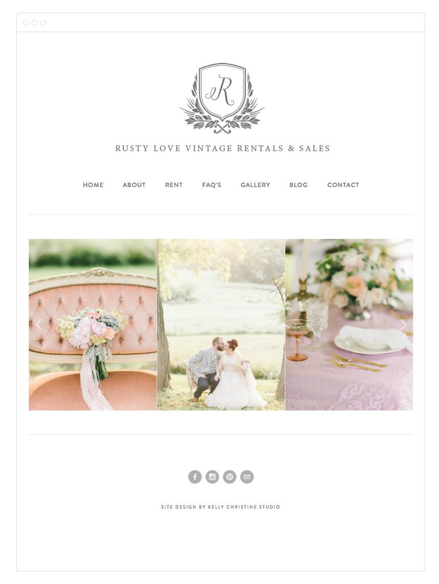 Rusty Love Web Design by Kelly Christine Studio