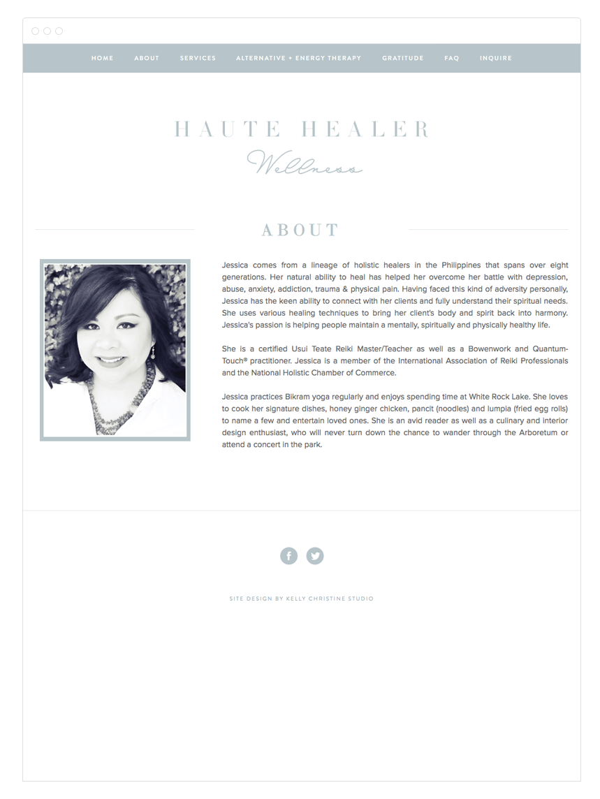 Haute Healer Wellness Website Design by Kelly Christine Studio
