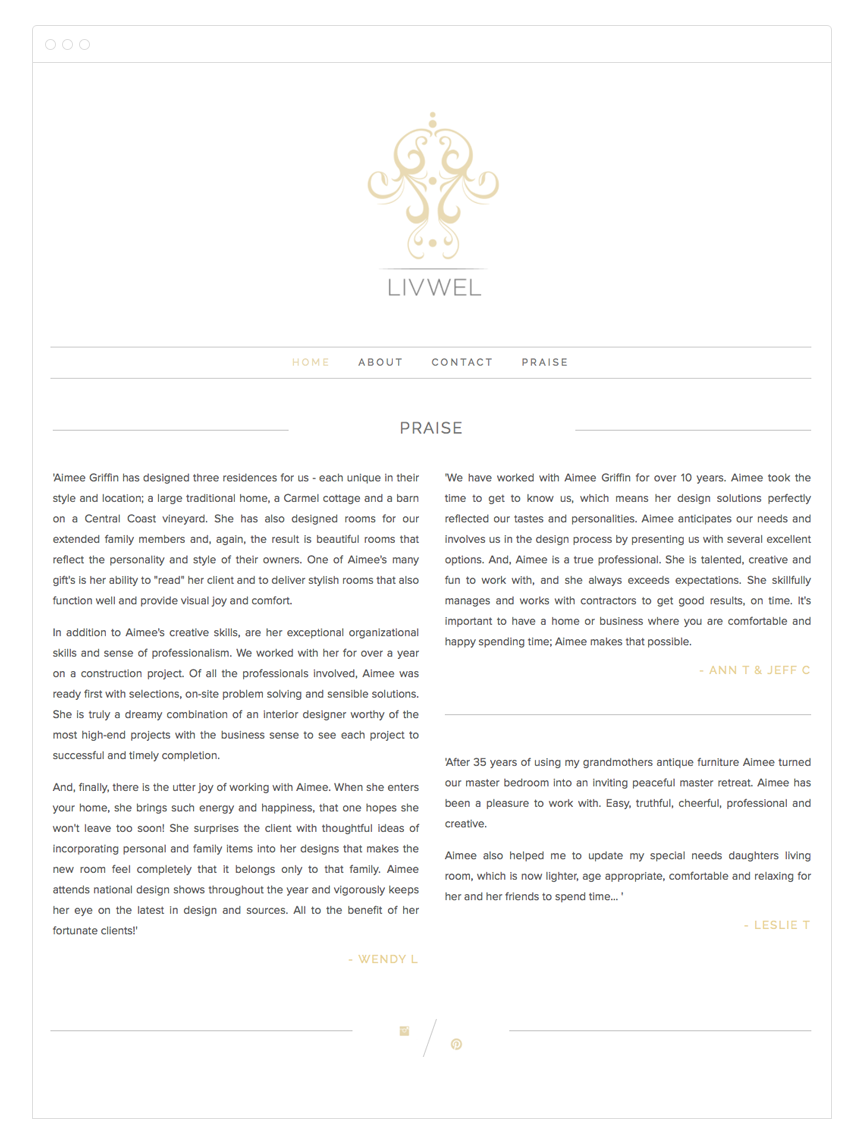 LivWel Squarespace Template Design - Kelly Christine Studio