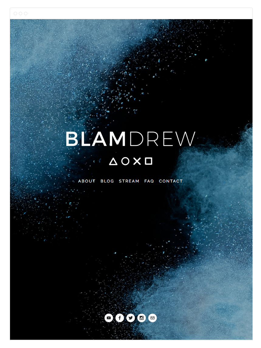 BlamDrew Squarespace Website and Blog Design by Kelly Christine Studio