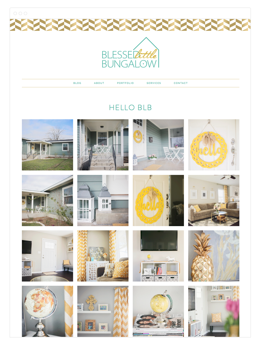 Blessed Little Bungalow Site Design by Kelly Christine Studio