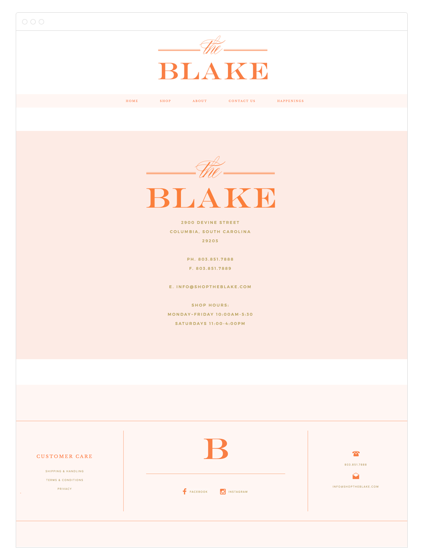The Blake Site Design by Kelly Christine Studio