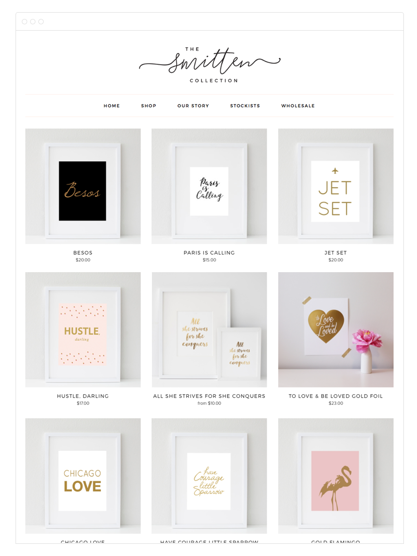 The Smitten Collection Site Design by Kelly Christine Studio