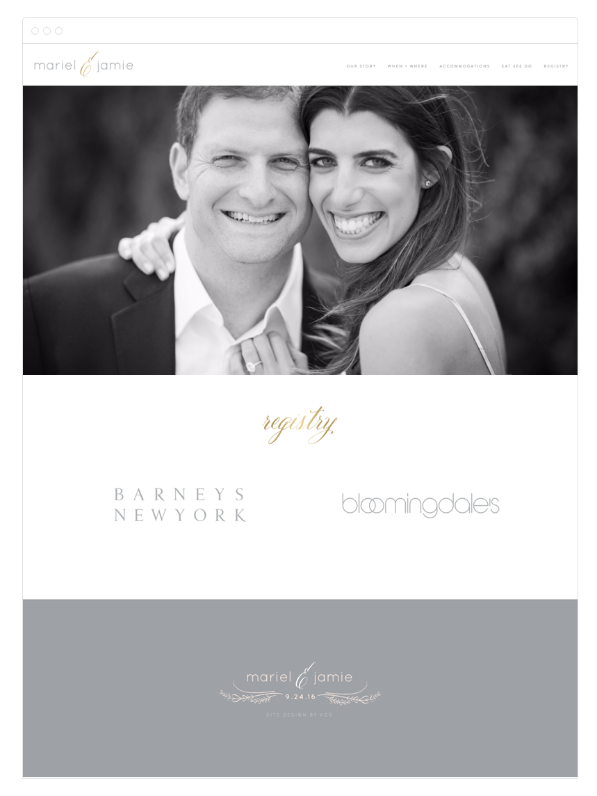Wedding Website Design by Kelly Christine Studio