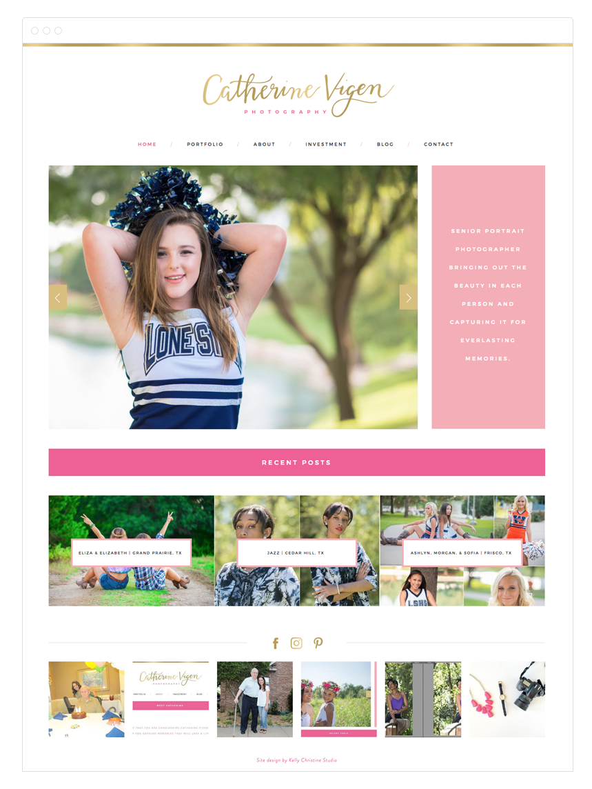 Photography Portfolio designed by Kelly Christine Studio