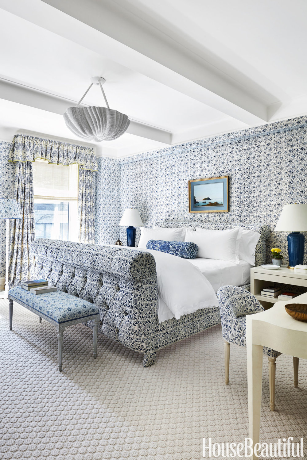 Dreamy Blue and White Bedroom