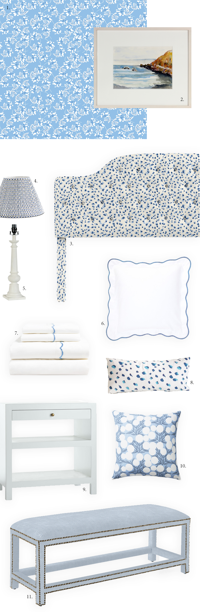 A Dreamy Blue & White Bedroom
