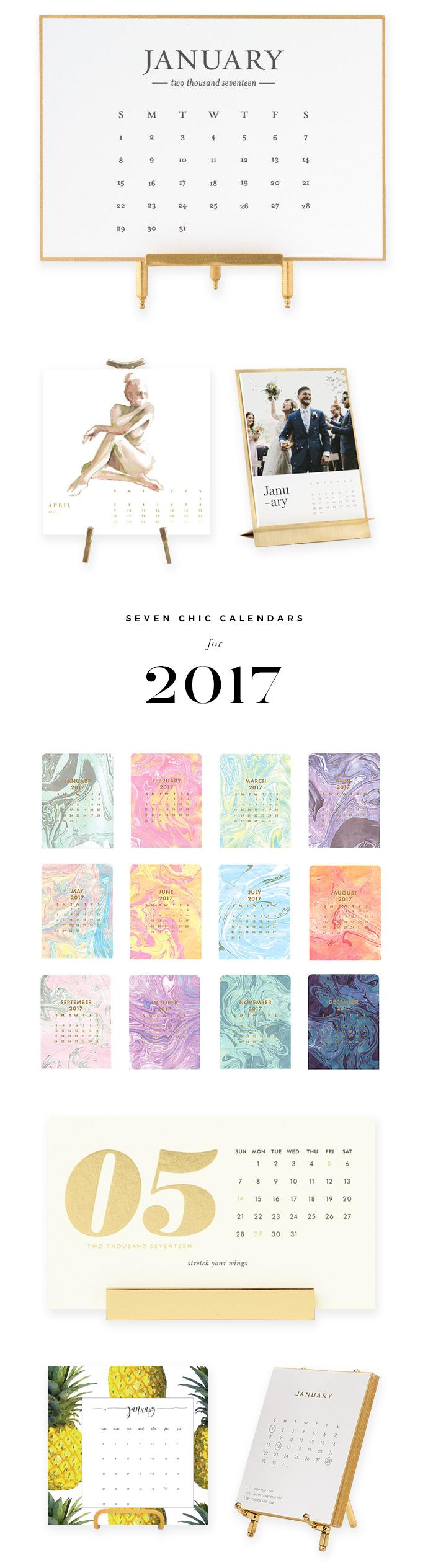 7 Calendars for 2017