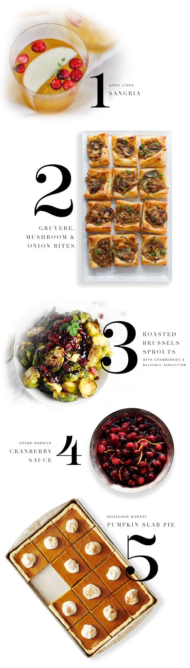 5 Recipes for Thanksgiving
