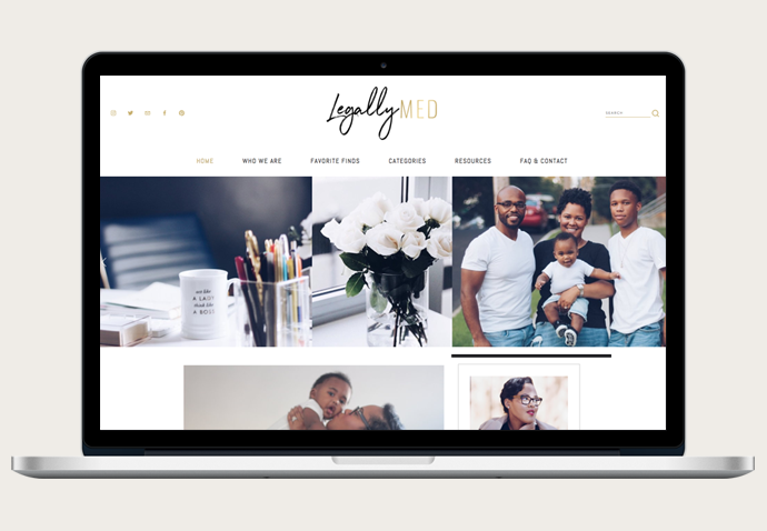 On the Blog - Legally Med's New Squarespace Design