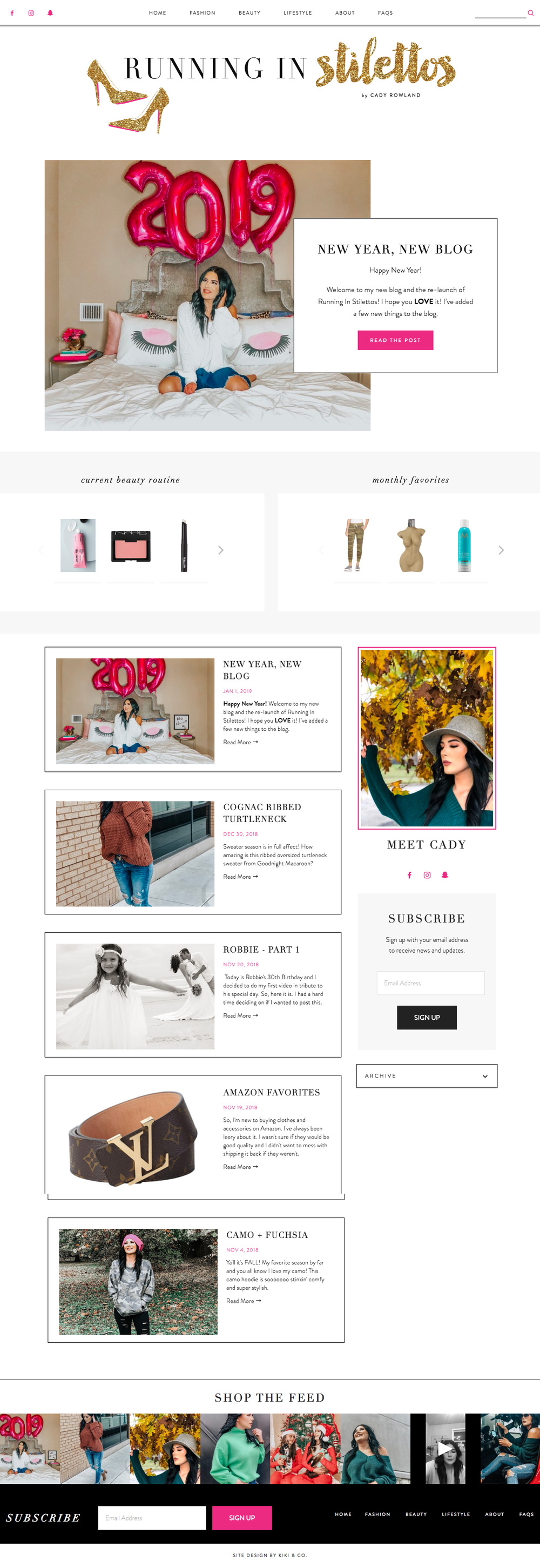 Running in Stilettos Blog Design - Squarespace Platform - Kiki & Co. Creative