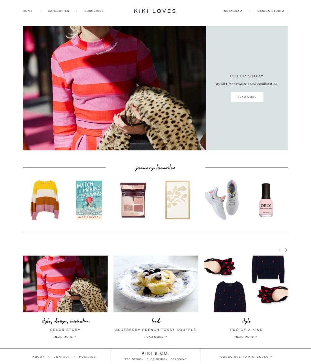 Blog Design for the Squarespace Platform by Kiki & Co.