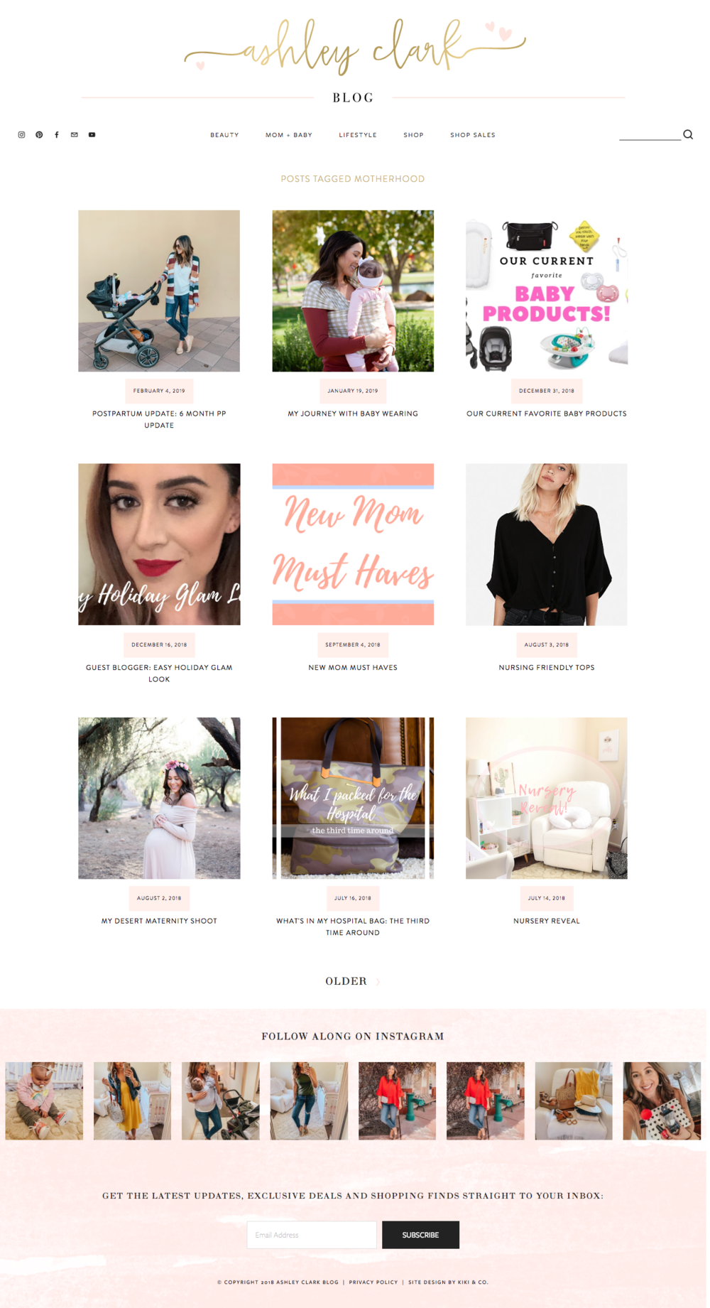 Ashley Clark Blog Design-Squarespace Platform-Kiki and Co. Creative