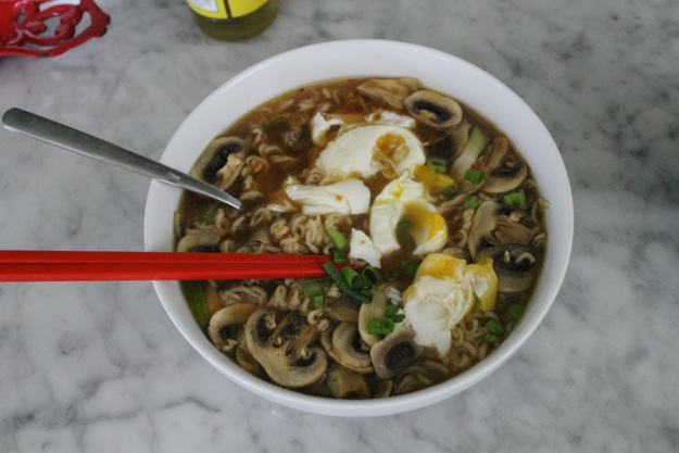 Easy, Upgraded Ramen: Mushroom Sesame Ramen with Poached Egg @ The Stylist Quo