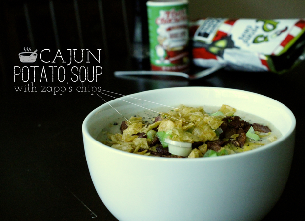 Cajun Loaded Potato Soup with Zapp's Crawtators