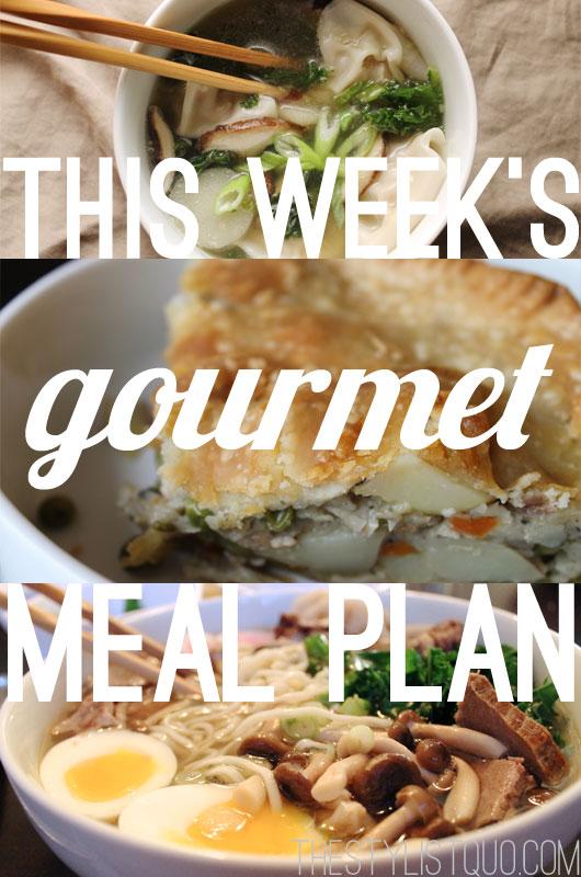 Budget Gourmet Meal Plan #1