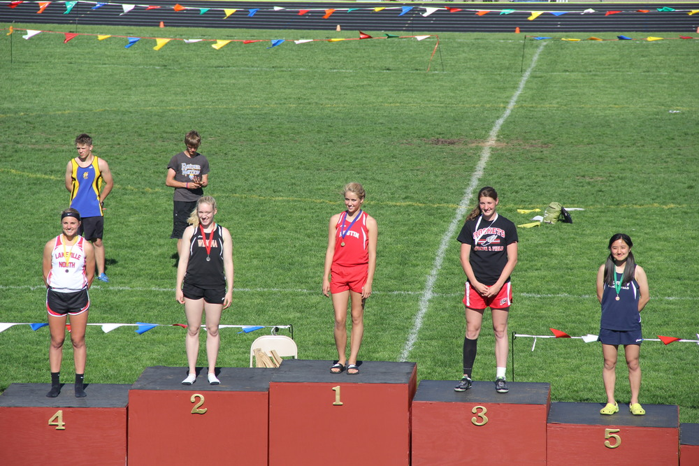 Caroline Hackel section champion in the Long Jump