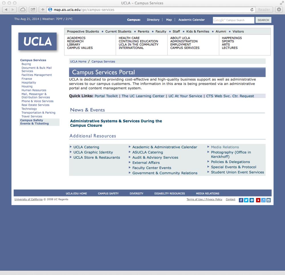 Campus services portal