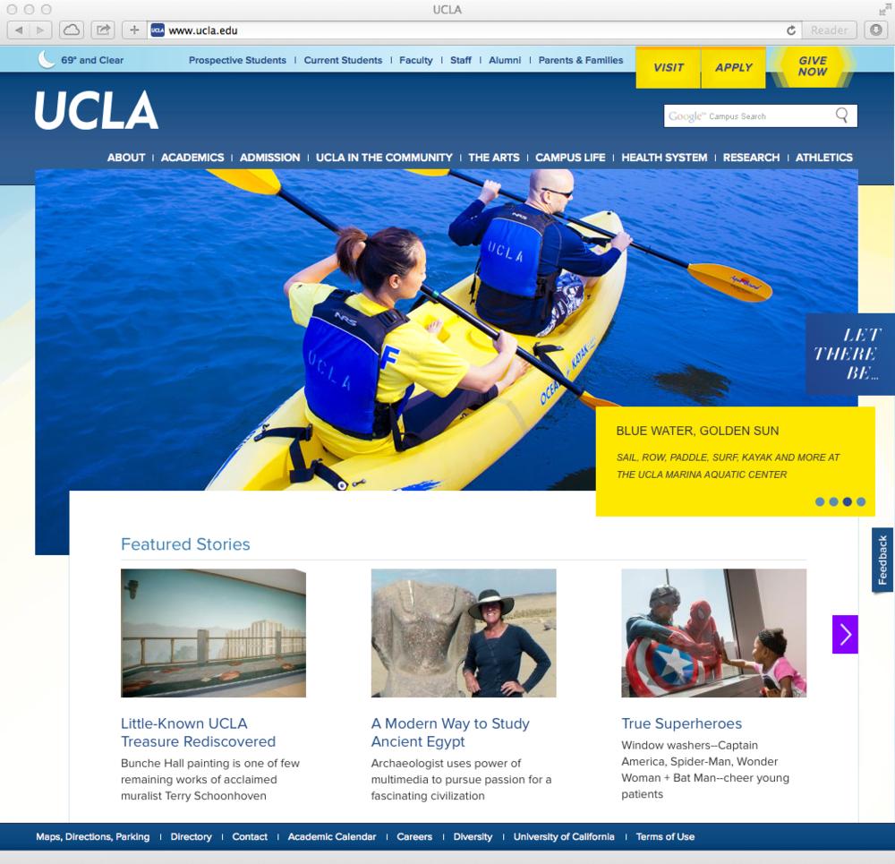 main gateway page, 2012