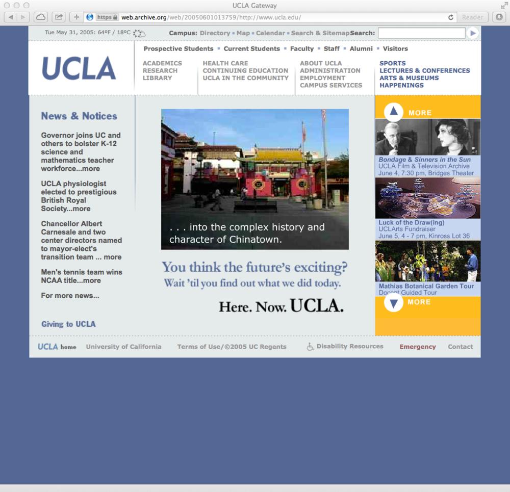 campus portal: 2005